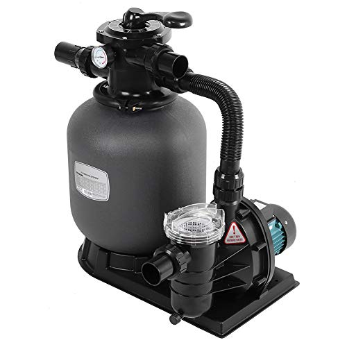 Bomba de filtro de agua de piscina, 4.32m³/h, Sistema de filtrado de Arena(EU Plug)