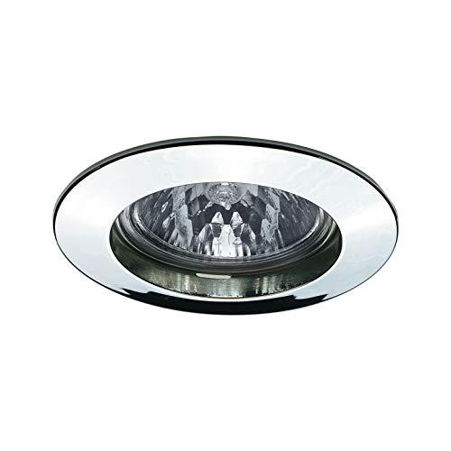 Paulmann 17946 inbouwlamp Premium Line 51 mm inbouwspot chroom inbouwlamp max. 1x50W inbouwlicht laagspanning 12V inbouwspot GU5,3 buiten plafondlamp, aluminium, GU5.3, zilver