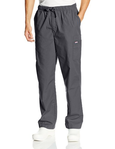 Cherokee Men's Originals Cargo Scrubs Pant, Pewter, Medium Short