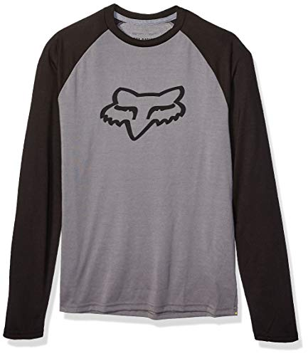Fox Racing Herren Tournament Long Sleeve TECH T-Shirt, Zinnfarben, 2X