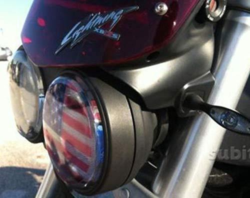 1 Aufkleber Transparent Abziehbild Stickers Buell Scheinwerfer Flagge Amerikanisch Light