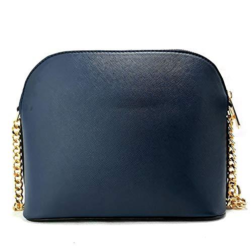 Female Bag Cross Pattern Leather Bag New Small Shell Bag Shoulder Messenger Chain Bag Lady Handbag