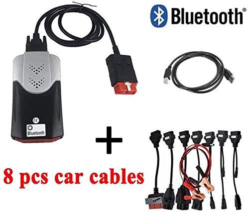 Strele Auto-Diagnosegerät mit Bluetooth, mit keygen für Delphis OBD 2 automatische Diagnose, 150e CDP Pro Plus 2016. R0, mit 8 in 1 Auto-LKW-Kabeln Werkzeug