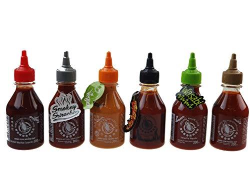 6er Set Sriracha Hot Chili Sauce versch. Sorten 6 x 200ml Chilli Soße
