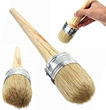 Professional Chalk and Wax Paint Brush,2 Pack Round Paint Brush/DIY Painting and Waxing Tool for Folk Art, Home Décor, Woo...