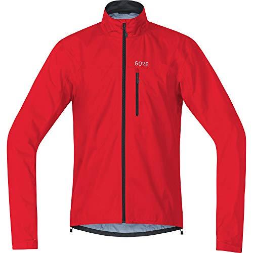 GORE Wear, Hombre, Chaqueta impermeable para ciclismo, GORE C3 GORE-TEX Active Jacket, Talla: XL, Color: Rojo, 100034