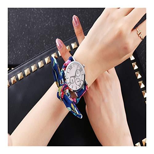 Tongjunmaoyi Casual Fashion Holiday Cinta Ribbon Relojes Relojes Color de Plata Moda Moda Relojes Nuevos Relojes de Pulsera para Mujeres Reloj de Cuarzo (Color : 6)