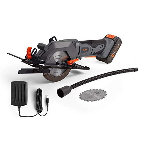 VonHaus E-Series 18V Cordless Circular Saw – Compact Electric Lightweight Saw with Speed Trigger – Handheld with Li-ion Batteries – 2.0 Ah Battery and Charger Included