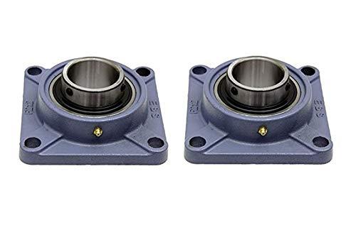 2 piezas UCF 203 / SF17 17 mm diámetro /, hierro fundido brida unidad de auto-alineación ebean cojinete