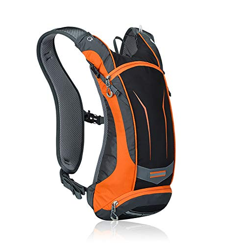 LILINA Impermeable Morral al Deporte al Aire Libre Bolsa de Viaje Resistente al Desgaste Tela de Nylon Plegable morral Que acampa para Acampar Escalada Esquí Trekking Bicicleta Caminar Subir,Naranja