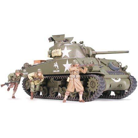 タミヤ 1/35 ミリタリーミニチュアシリーズ No.250 アメリカ陸軍 M4A3 シャーマン 75mm砲搭載・後期型 前線...
