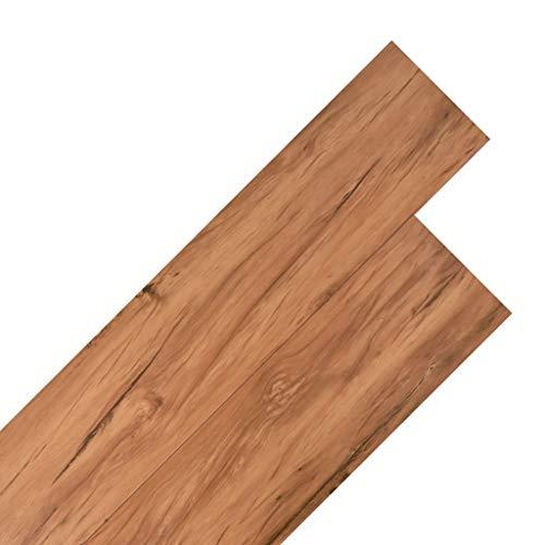 vidaXL PVC Laminat Dielen Rutschfest Wasserfest Vinylboden Vinyl Boden Planken Bodenbelag Fußboden Designboden Dielenboden 4,46m² 3mm Ulme Natur