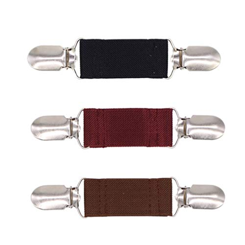 SOIMISS Retro Clip del cuello del jersey Clip del cárdigan Clip del broche de la carpeta del abrigo del chal del vestido de la aleación 3 unidades