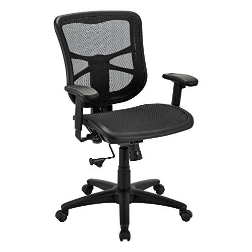 Alera ALE Elusion Series Air Mesh Mid-Back Swivel/Tilt Chair, Black