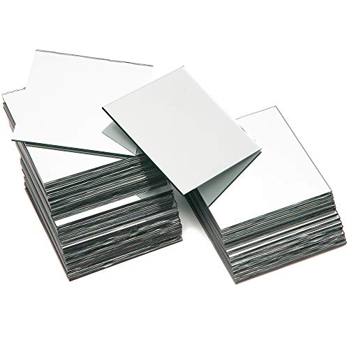 Square Mirror Tiles for Home Decor and DIY Crafts (3x3 Inches, 50-Pack)