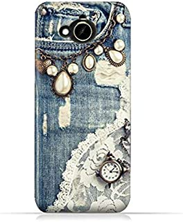 HTC Desire 10 Compact TPU Silicone Protective Case with Modern Jeans Pattern