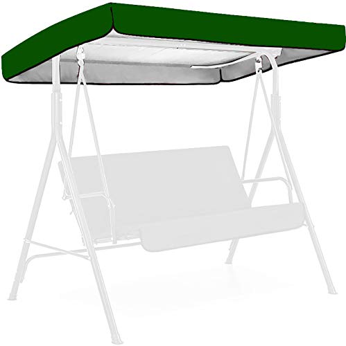YALANK Patio Swing Canopy Replacement Accessories, 75 * 47 * 7 Inch 190T Material Replaceable Swing Top Cover, Outdoor Swing Waterproof Dustproof Cover (75.20 * 47.24 * 7.09 Inch,Green)