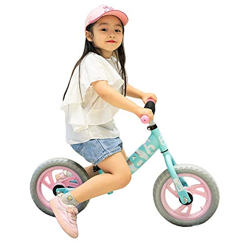 LXLA Lightweight Balance Bike for Kids and Toddlers, No Pedal Sport Training Bicycle for Children Ages 18 Months to 4 Year Old, Easy to Assemble (Color : Pink)