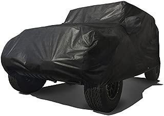CarsCover Custom Fit 2004-2019 Jeep Wrangler Unlimited JK JL 4 Door SUV Car Cover Heavy Duty All Weather Ultrashield Black