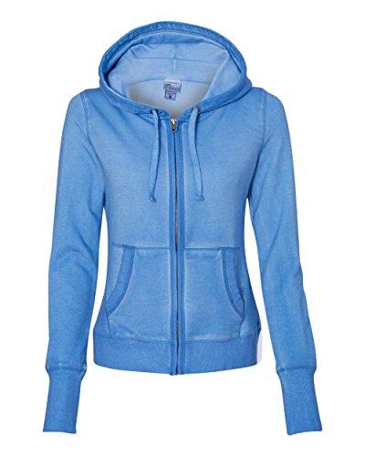 J. America-Women's Oasis Wash Sweatshirt-8665-LG-Deep Periwinkle
