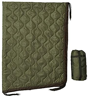 USGI Industries Military Woobie Blanket - Thermal Insulated Camping Blanket, Poncho Liner – Large, Portable, Water-Resistant, for Hiking, Outdoor, Survival, Comes with Compression Carry Bag (OD Green)