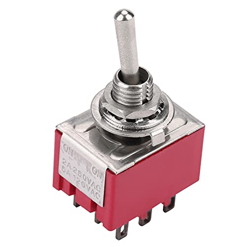 3PDT Mini 5 unids 2 posiciones ON-ON interruptor de palanca de 9 pines compacto 6mm alta confiabilidad para electrodomésticos eléctricos