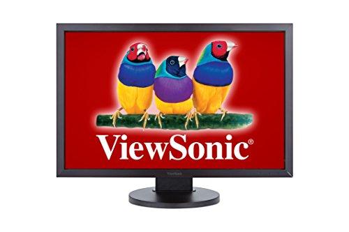 ViewSonic VG2235M 55,9 cm (22 Zoll) Ergonomischer LED-Monitor (Höhenverstellung 100mm, DVI, VGA, 5ms Reaktionszeit, Lautsprecher) schwarz