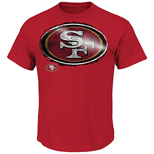 Majestic NFL Football T-Shirt San Francisco 49ers Line to Gain LTG (XXL)