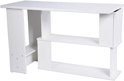 SoBuy Mesa plegable de pared con estante integrado, B90 x H36 x ...