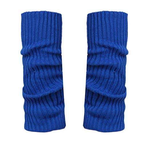 Stulpen Damen,1 Paar Mode Beinlinge Twist gestrickte Beinlinge Socken Boot Cover warme Leg Socken Teens Grobstrick Legwarmers(Blau)