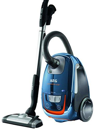 AEG UltraSilencer USEnergy+ 61dB Staubsauger mit Beutel (700 Watt, AeroPro Silent Bodendüse, inkl. Hartbodendüse, 12 m Aktionsradius, waschbarer Hygienefilter E12) blau