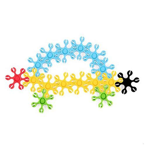 Bloques de construcción para niños Los juguetes de bricolaje para niños Bloques de copo de nieve de 260 unids Juguetes de construcción educativa 3D Puzzle Jigsaw Puzzle Enclavamiento plato plato plato