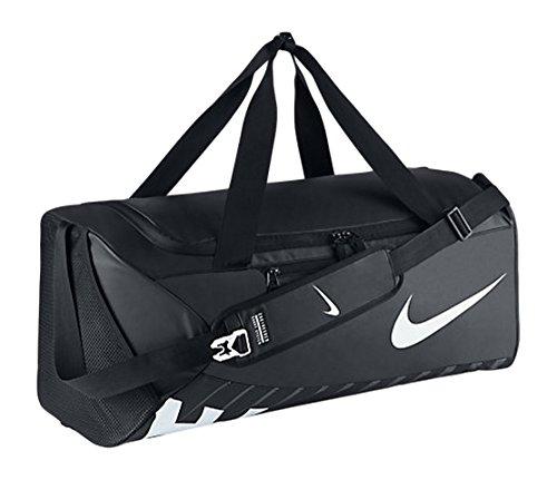 Nike Unisex sporttas Alpha Adapt Crossbody, zwart/wit, 68,5 x 30,5 x 30,5 cm, 62 liter, BA5181-010