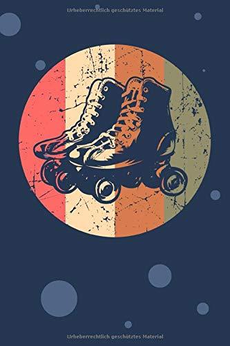 SKIZZENBUCH: Rollschuhfahrer Notizbuch Blanko A5 - 120 Seiten für Notizen Skizzen Zeichnungen - 70er Jahre Geschenk für Retro Liebhaber Vintage ... Rollschuhe Notizheft Retro Roller Skates