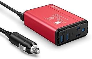 BESTEK 150W Power Inverter DC 12V to 110V AC Converter 4.2A Dual USB Car Adapter, Thinner Design with ETL Listed