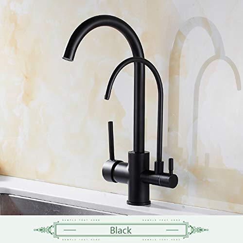 Filter keukenkraan opbouw, keukenmengkraan, 360 versnellingen, met waterzuivering, kenmerken mengkraan zwart