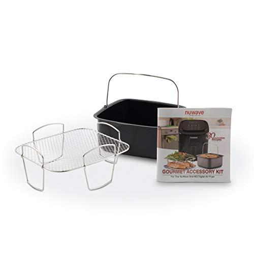 NuWave 6 Quart Brio Air Fryer 3 Piece Gourmet Accessory Kit…