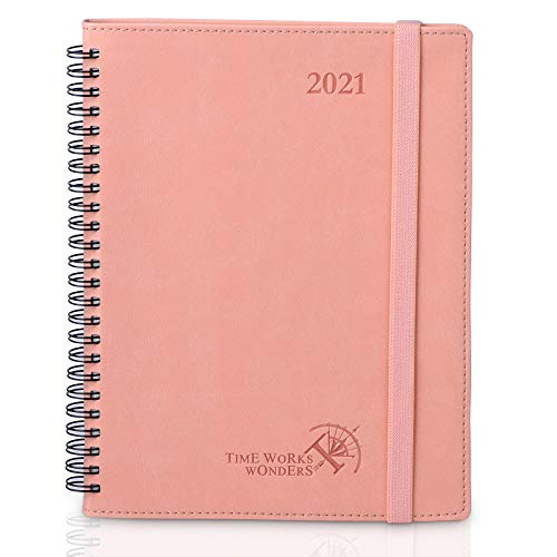 2021 Planner Weekly & Monthly Desk Calendar Hourly Appointment Book 6.5