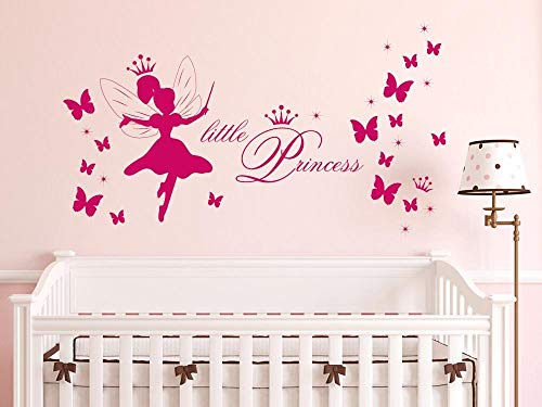 GRAZDesign Muurtattoo Meisjes Little Princess - Muursticker Muursticker Meisjeskamer Kleine Princess / 770085 841 Blue Grey