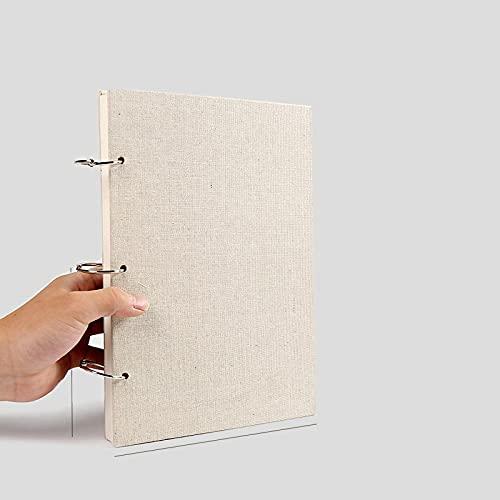 MLOPPTE Caja de regalo de cuenta manual,Desmontable de hojas sueltas para rastrear el libro de arte Estudiantes A4 Libro de pintura Recambio reemplazable Libro de acuarela Pintado a mano Medio