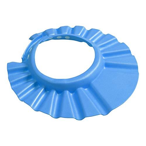 XIARUI Children Hat Ajustable Ducha Suave del bebé niños del baño del champú Cap Champú for los niños Cabeza for Baby Shower Sombrero del niño Gorro de baño del baño del Visera Casual (Color : Blue)