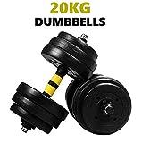 General Packaging Dumbbells Set 20KG, Weights Adjustable Dumbbells Set for Women and Men