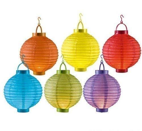 DRULINE 6 Farben LED Papierlaterne Lampion Lampions Laterne Garten Ballon Papierlampion