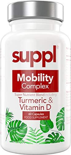 Suppl Mobility Complex Turmeric Curcumin 1800mg, Black Pepper & Ginger, Vitamin D 4000iu, Apple Cider Vinegar, High Strength Capsules Not Tablets