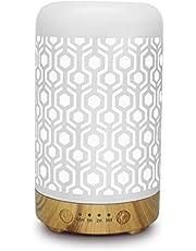 Difusor de aceite esencial de aromaterapia,humidificador silencioso con protección de apagado automático sin agua y LED cambiado de 7 colores para SPA,oficina Y casa
