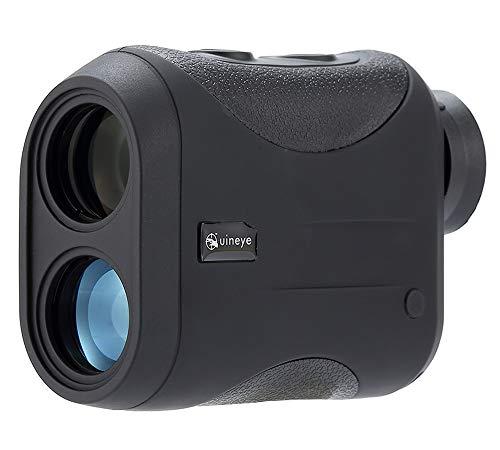 Uineye Golf Rangefinder - Range : 5-1312 Yards, 0.33 Yard Accuracy, Laser Rangefinder with Height, Angle, Horizontal Distance Measurement Perfect for Hunting, Golf, Engineering Survey (Black)