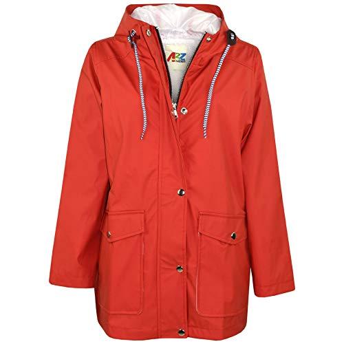 A2Z 4 Kids® Kinder Mädchen Jungen PU Regen Mantel Jacken Windbreaker - PU Raincoat 497 Red 5-6