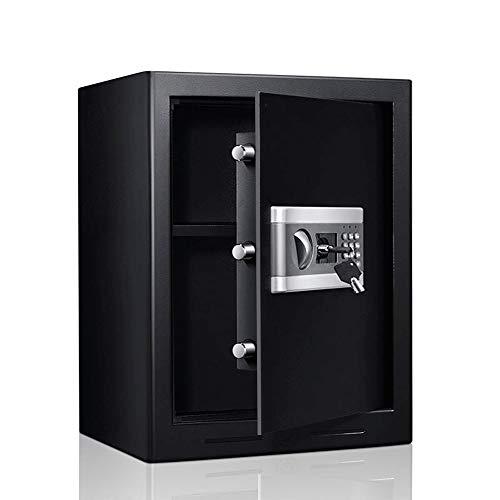 DFEIL Chiave di Digital + Cassaforte elettronica cassaforte chiave-serratura di sicurezza in acciaio Caselle di sicurezza costruzione Digital Jewelry Box Cash Gun for la casa, ufficio, commercio (nero