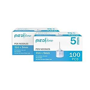 buy  MedtFine Insulin Pen Needles 31G 5mm (3/16″) ... Diabetes Care