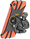 Cocoda Soporte Móvil Bicicleta, Soporte Movil Moto, Rotación 360° Ajustable Silicona Universal Montaje para Manillar de Bicicleta para teléfonos de 4.7'' - 6.5''